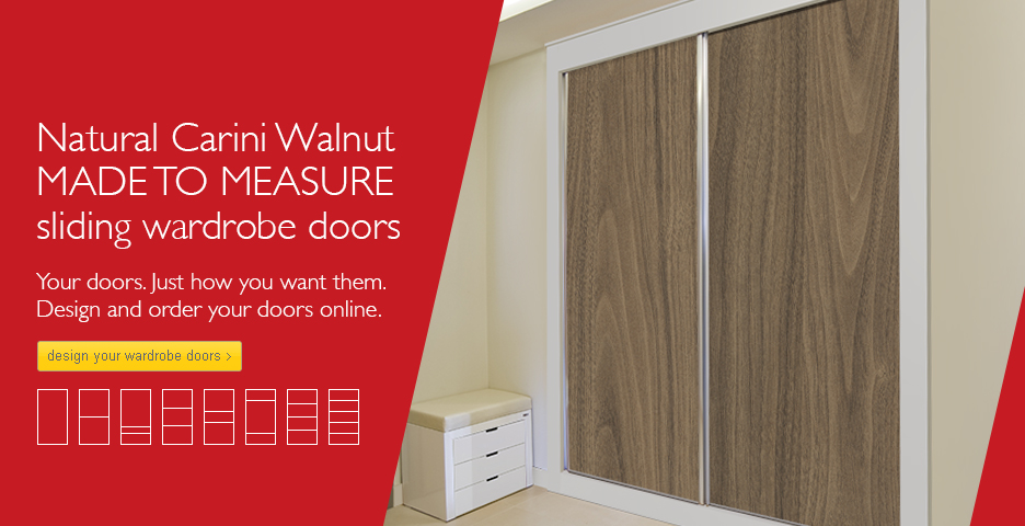 NATURAL CARINI WALNUT SLIDING WARDROBE DOORS