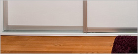 How to install sliding wardrobe doors onto a sloping floor