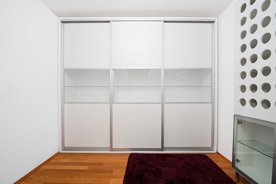 Sliding door display cabinets